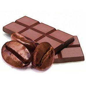 kávove zrná v raw čokoláde